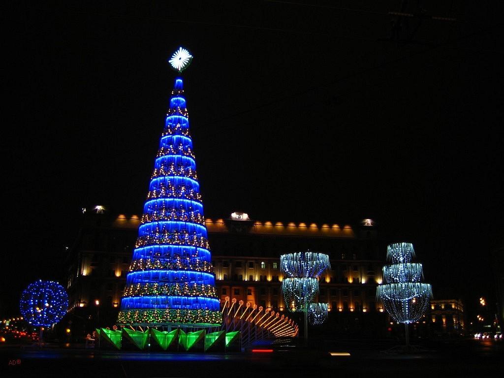 новогодняя елка на лубянке
