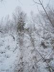 А это следы Игоря и Димы Микшина. Они, в отличае от нас с Димой Кречетовым не парились и спустились с самого верха на пятой точке.)))
