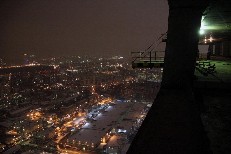 про только фото зимней ночной москвы с крыши нашей