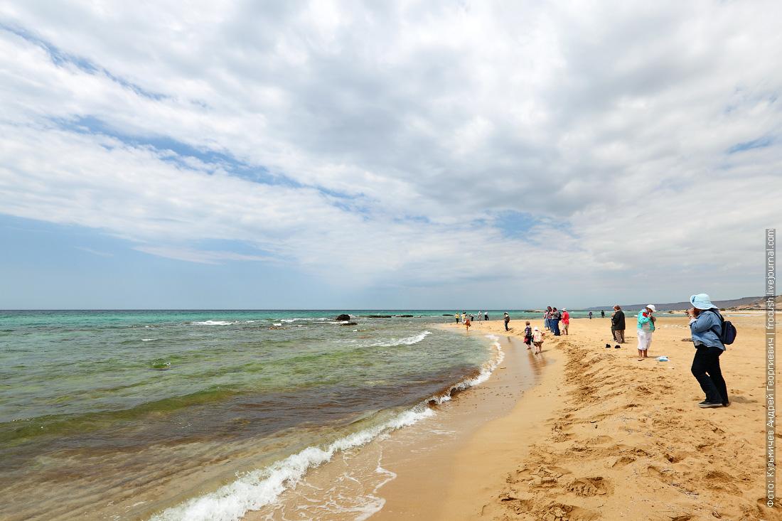 берег Каспийского моря полуострова Тюб-Караган