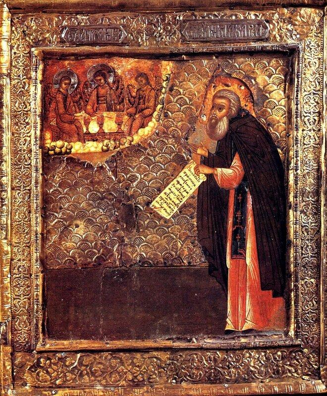 Святой Преподобный Макарий Калязинский. Икона XVII века.