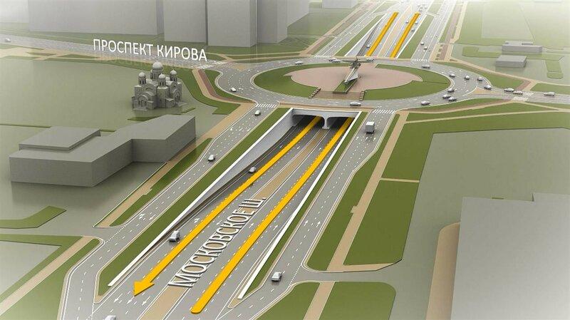 Московское шоссе - одна из