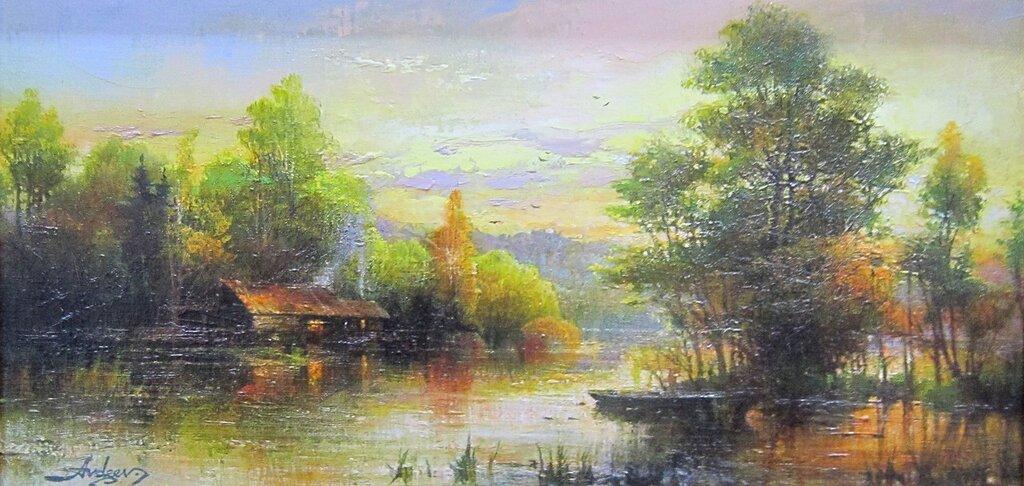 Авдеев Михаил Анатольевич ( родился в 1972 году). Тёплый вечер. 2017 год.