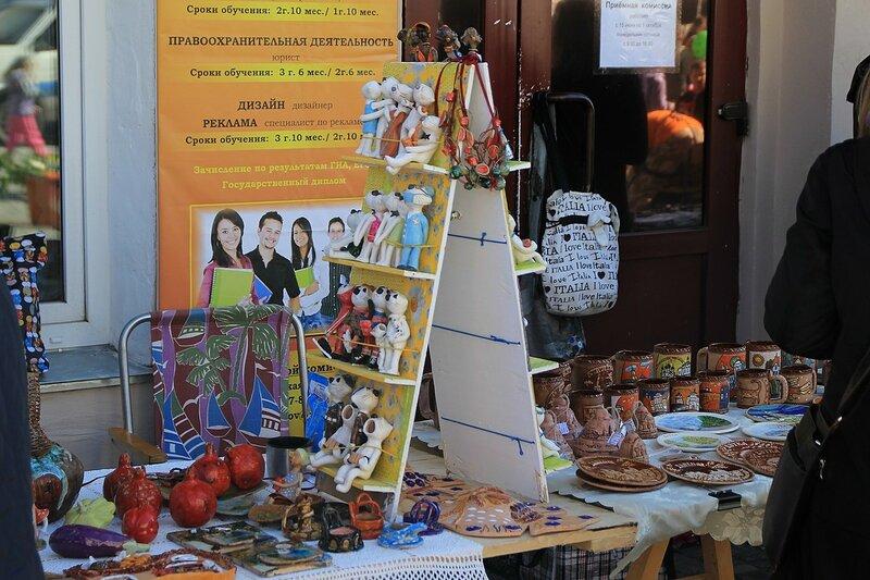 Продажа сувениров - «Вятский Арбат» в день города-2015 на пешеходной улице Спасской