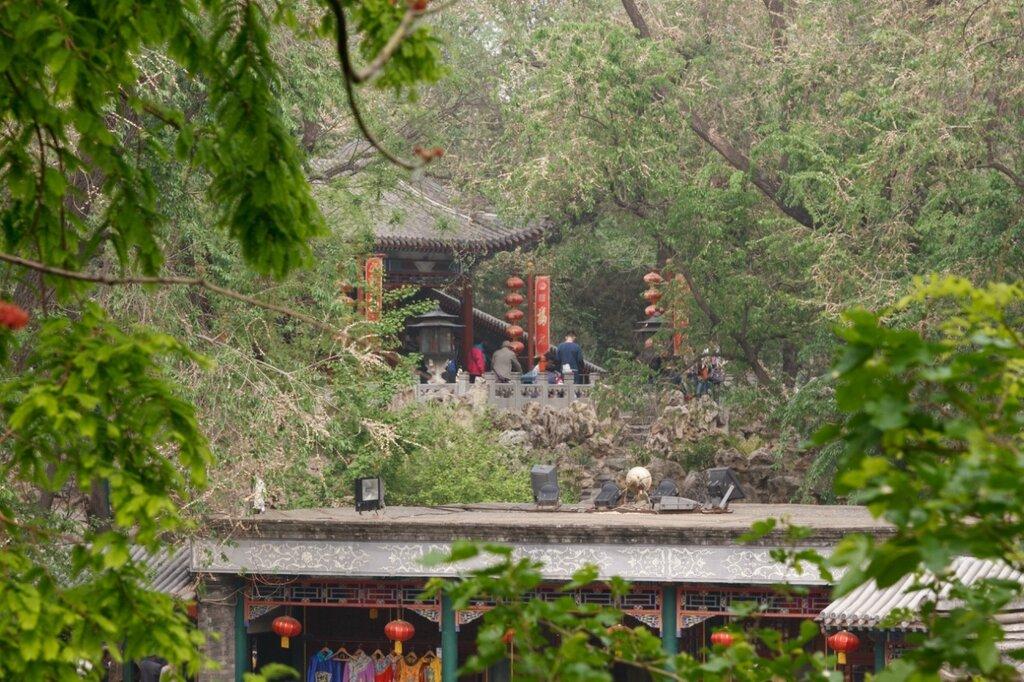 Галереи и павильоны в саду, дворец князя Гуна, Гунванфу, Пекин