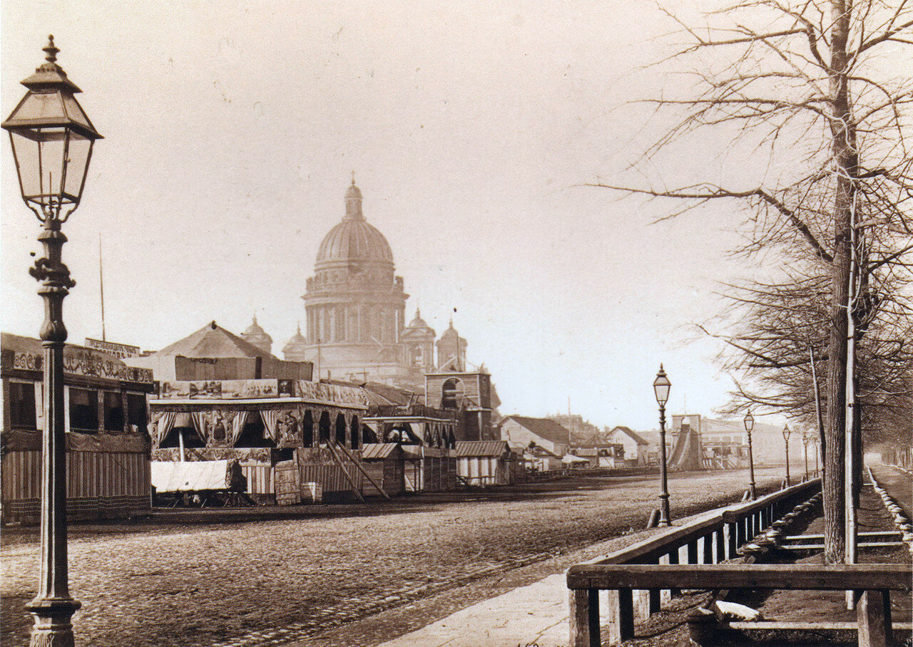 Балаганы во время святочной недели в Адмиралтейском парке.1860-е