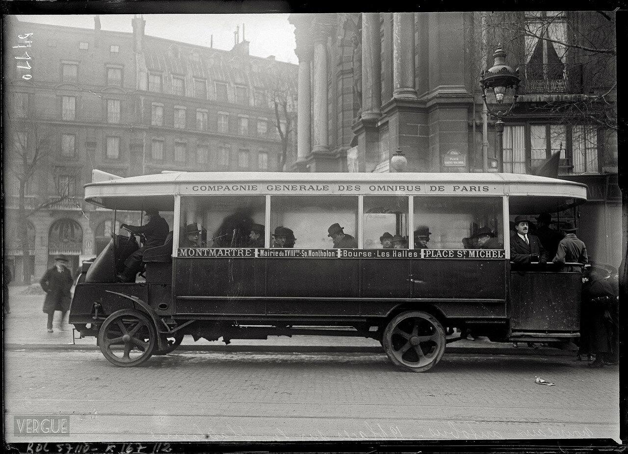 1919. Автобус Монмартр - площадь Сен-Мишель