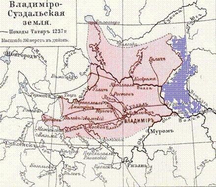 Меровия показана на карте синим цветом.  У земли Ветлужского княжества существует свое историческое название...