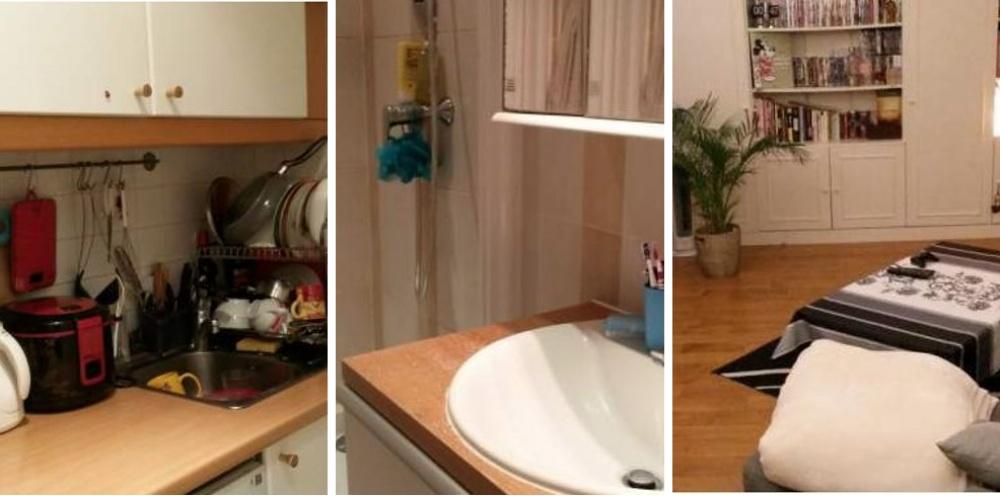 Место: 13-й округ Парижа. 40 квадратных метров. Кухонька, туалет и душ. Идеальна для парочки. Берлин