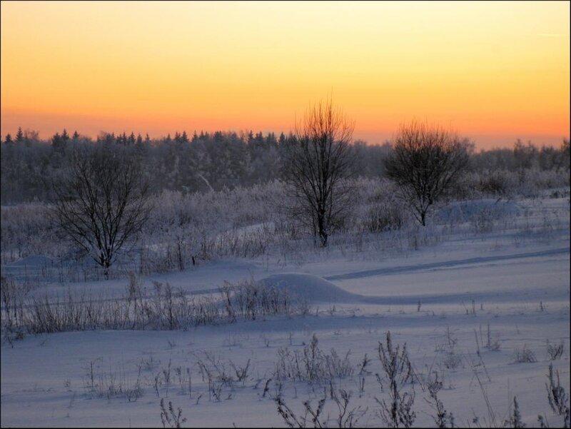Вечер зимнего дня
