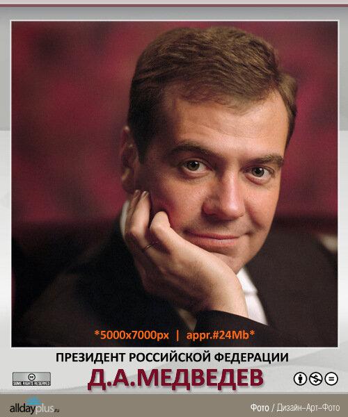Портрет Президента РФ Д.А.Медведева - 5000x7000px