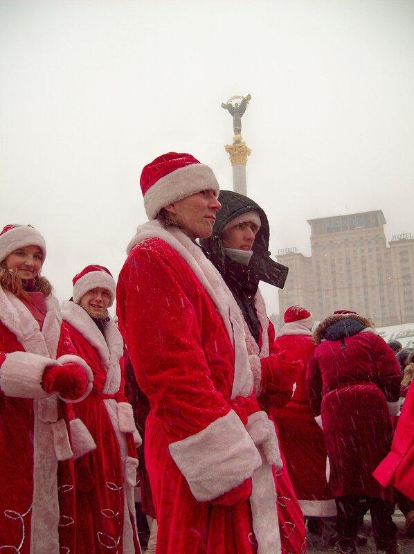 Новогодний парад по Крещатику