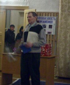 Свои стихи читает Сергеев Валентин
