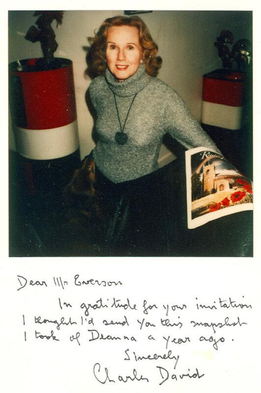Deanna Durbin, Paris, 1981. Photograph by Charles David