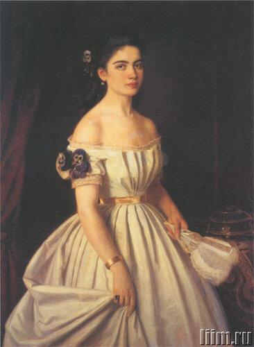 Крамской И.Н.Портрет княгини Екатерины Алексеевны Васильчиковой (?). 1867