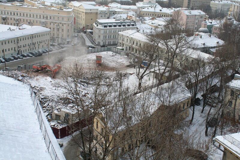 Хитровская площадь. 25 января 2010 г.