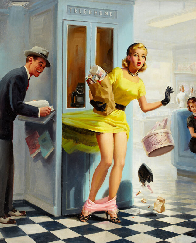 Винтажный пин-ап.1957 ART FRAHM