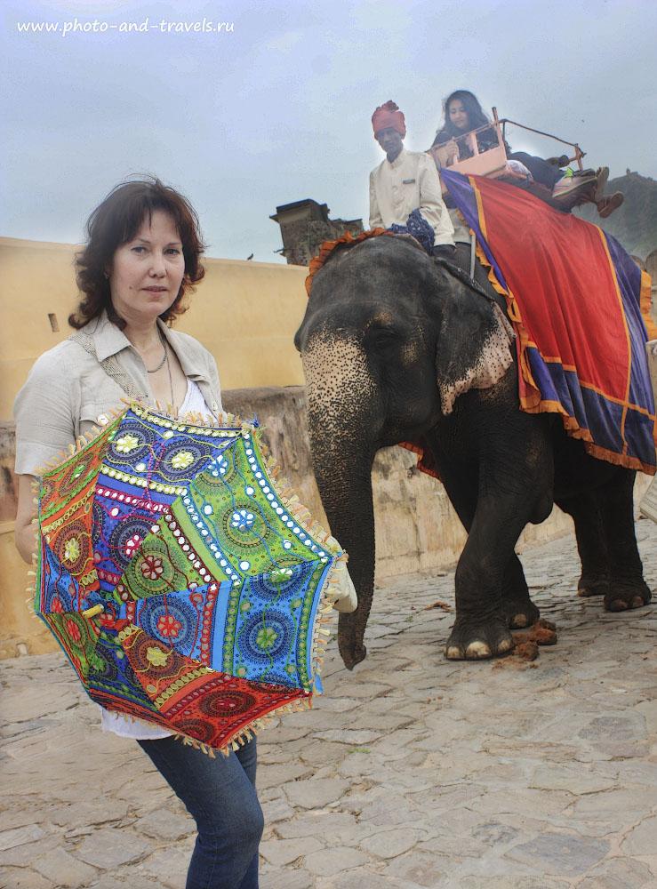 Фото 7. Во время экскурсии к Красному Форту в Джайпуре можно прокатиться на слонах. Отчет туристки из Петербурга о путешествии по Индии самостоятельно.