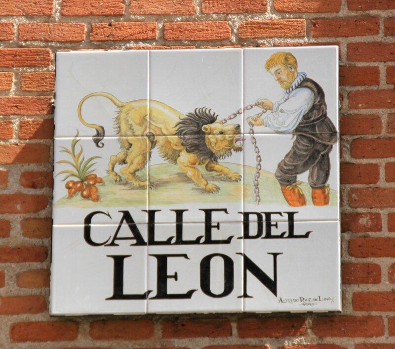 Мадрид (Madrid), Calle del leon