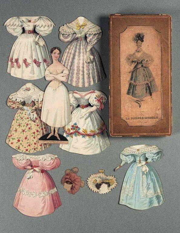 Винтажные бумажные куклы
