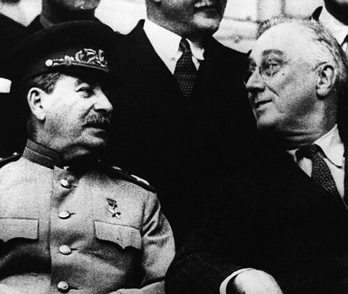 Сталин и Рузвельт в Тегеране, 1943