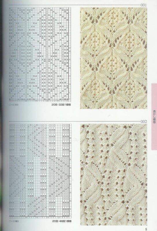 схема вязания спицами шарфа с цветами.