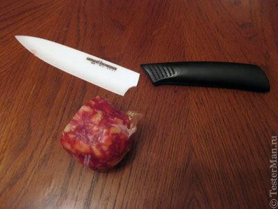 Сломанный керамический нож Samura