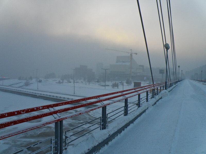 Вид с вантового моста