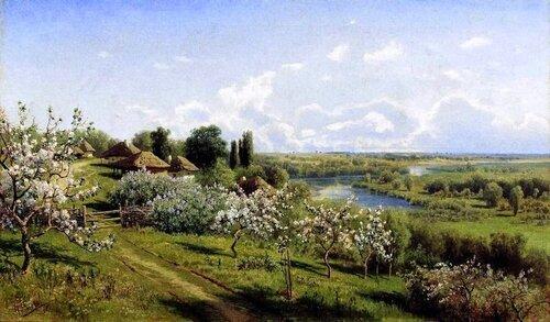 Николай СЕРГЕЕВ (1855-1919) - Яблони в цвету.