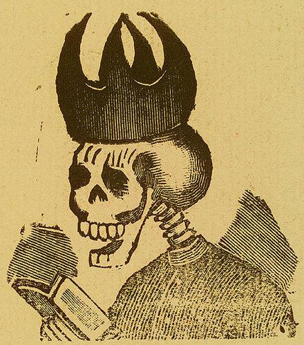 Calavera Clerical. Jose Guadalupe Posada. Monografia; las Obras de Jose Guadalupe Posada. n.c. : n.p., 1930. Page 179.