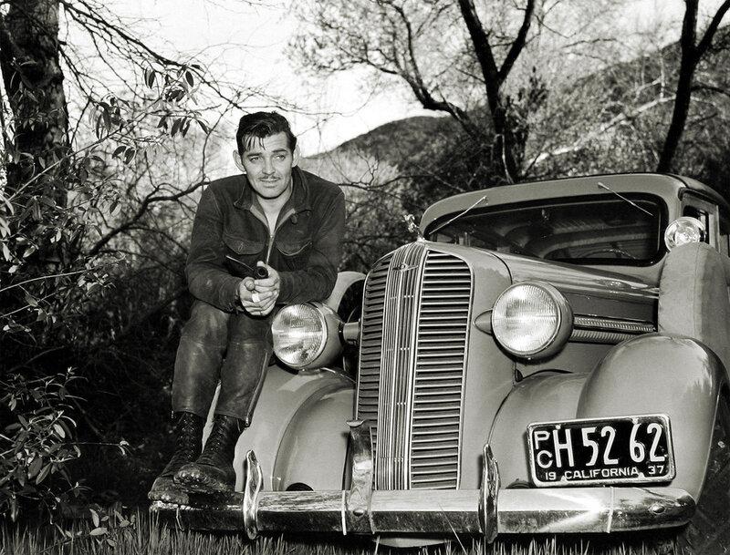 актер Кларк Гэйбл и его автомобиль