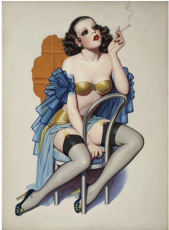 винтажный пин-ап.ENOCH BOLLES 1937