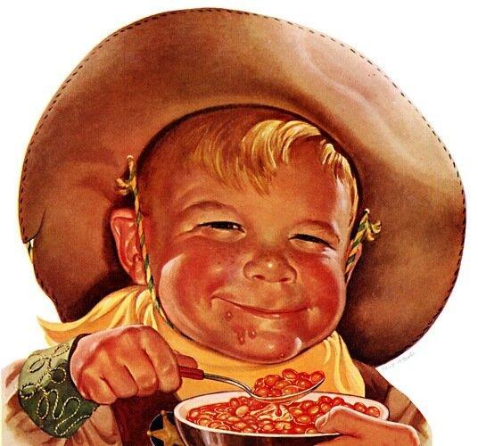 демонический взгляд детей в старинной рекламе 59 г.