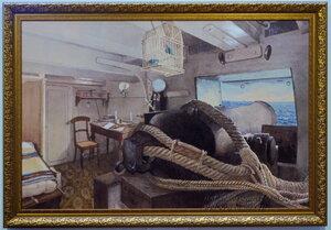 """Офицерская каюта фрегата """"Александр Невский"""", 1867, Центарльный военно-морской музей, Санкт-Петербург"""