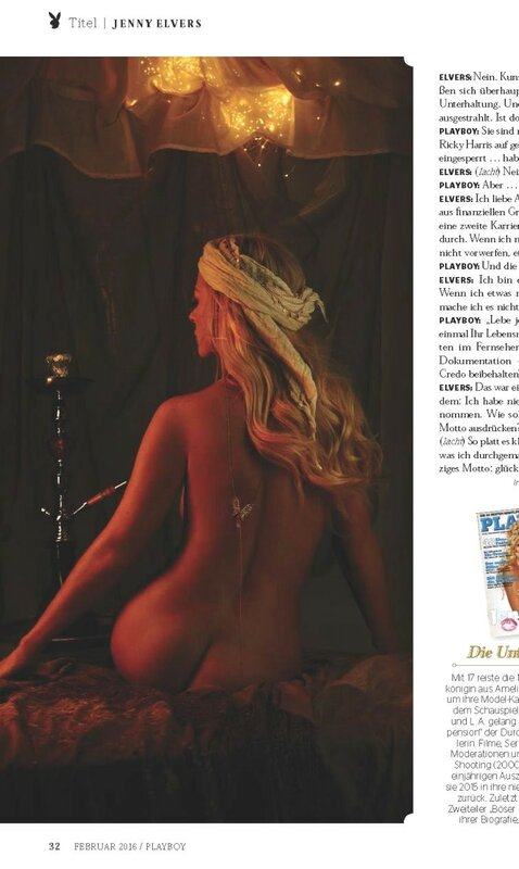 Jenny Elvers in Playboy Germany