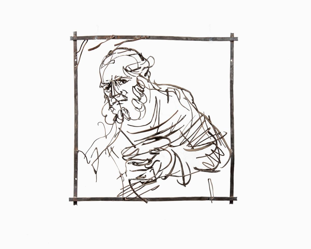 Дмитрий Гутов в серии пространственных объемных конструкций из металла воссоздает рисунки Рембрандта