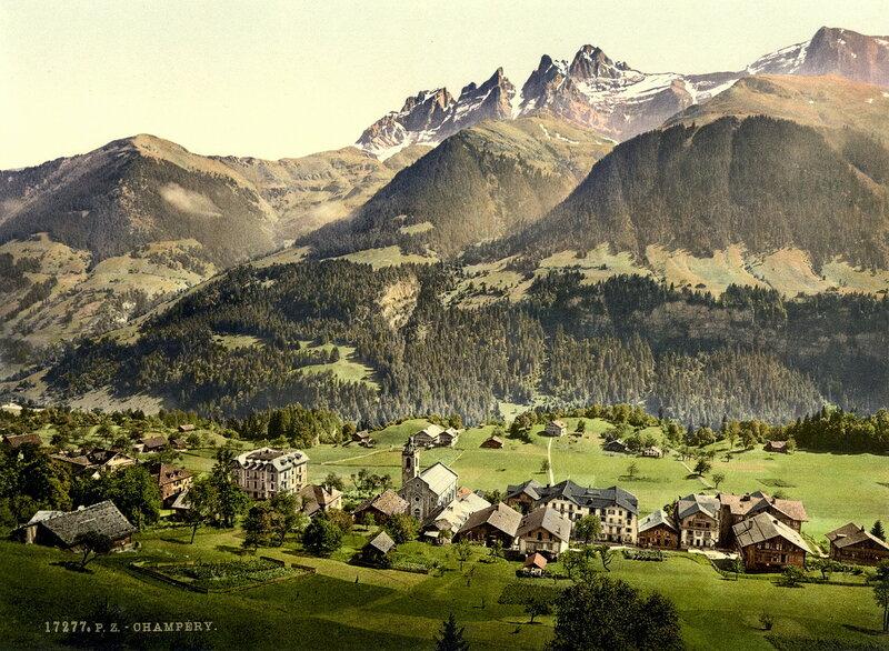 9. Деревня-курорт Шампери, общий вид