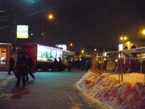 Вечер. Москва. Иду домой от метро Щелковская