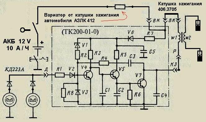 двигателя змз 402 схема