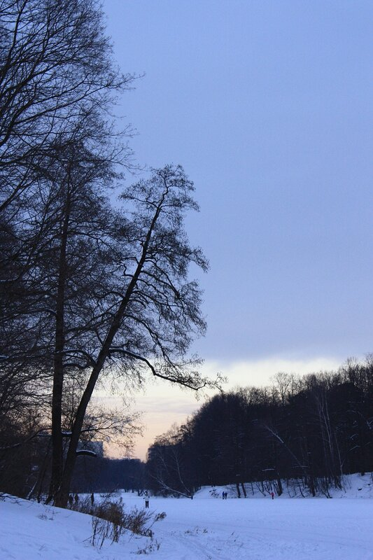 Сине-розовый закат