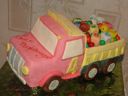 Торт машина своими руками мастика
