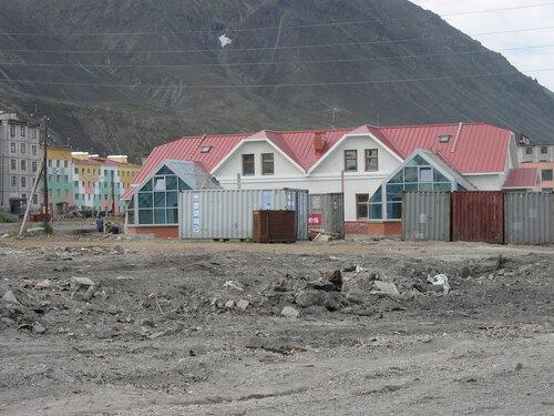 Строительство новых домиков в Эгвекиноте