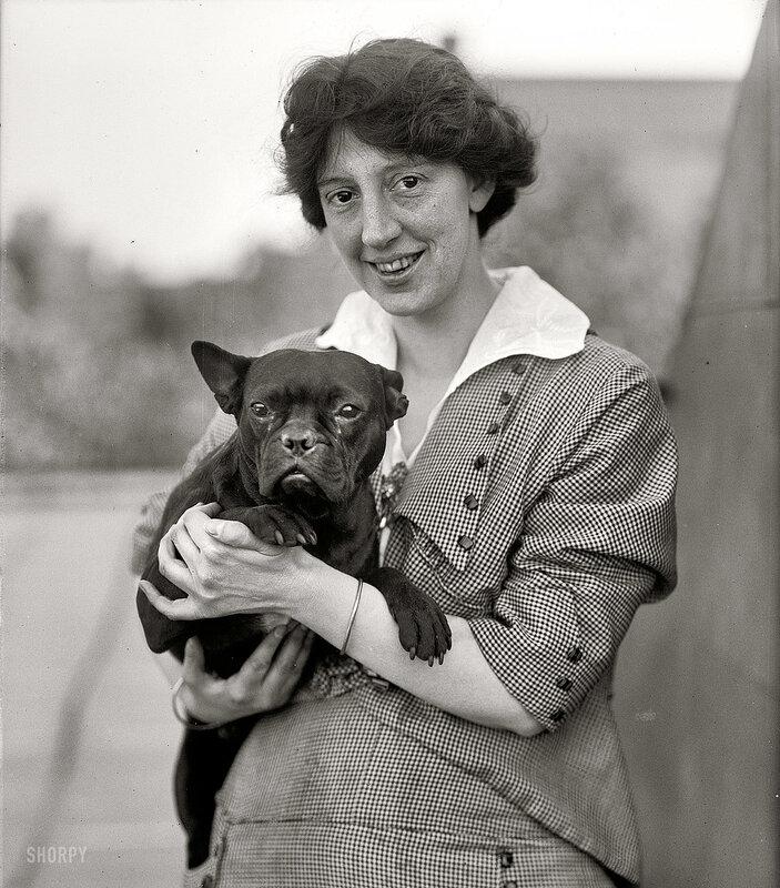 Старинное фото.Портрет с собакой