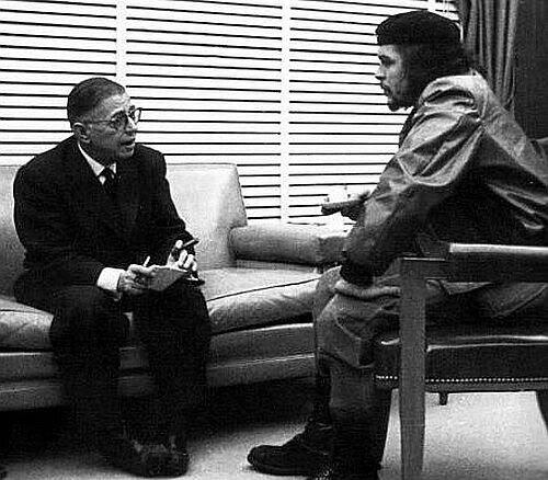Культурные сгустки.  Жан-Поль Сартр и Эрнесто Че Гевара.  Понедельник, 15 августа 2011.  URL. via. @темы.