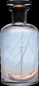 бутылки с корабликами