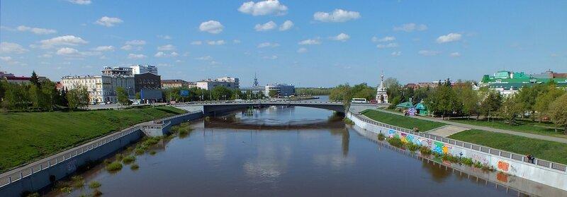 Юбилейный мост и обновлённая набережная