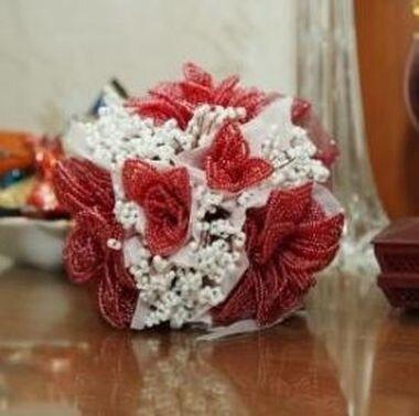 Свадебный букет из бисера