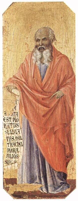 Дуччо. Пророк Иеремия