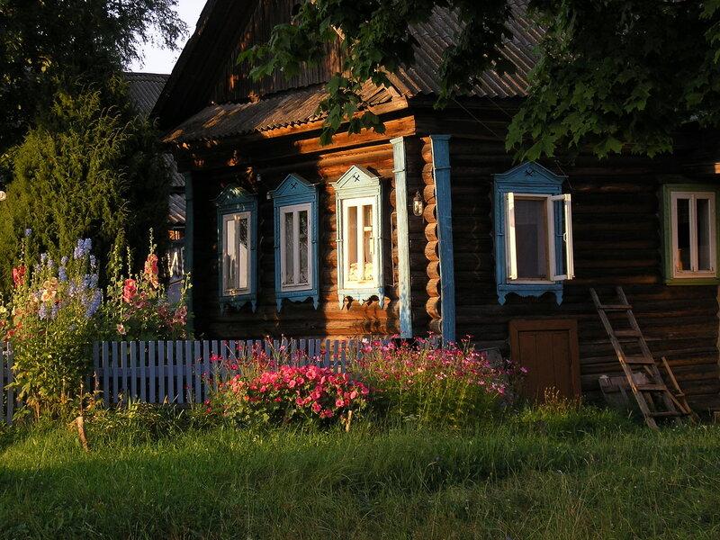 Деревенский домик картинки