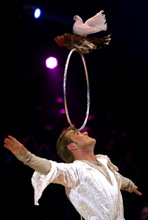 На церемонии открытия 34-го Монте-Карловкого Междунородного фестиваля циркового искусства, 14 января 2010 года, Монако.